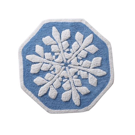 Circle Bathroom Rugs Snowflake 24 Quot Bath Rug Home Bed Bath Bath Bath Towels Rugs Bath Rugs Mats