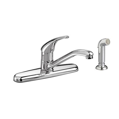 Single Handle Kitchen Faucet With Side Spray American Standard Colony Soft Single Handle Standard Kitchen Faucet With Side Sprayer In