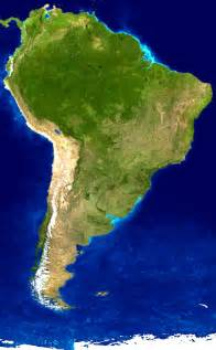 detailed satellite map of south america south america