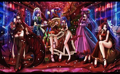 anime wallpaper hd christmas anime christmas girls 29 desktop wallpaper animewp com