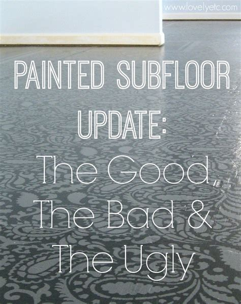 Cheap Diy Home Decor Projects Painted Plywood Floor Update The Good The Bad And The