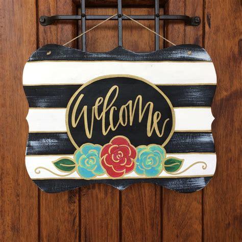 door hanger hand painted door hanger wooden door