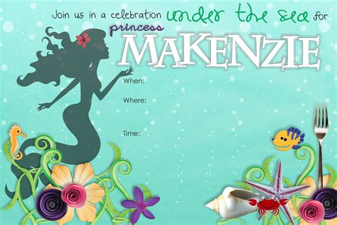 Mermaid Birthday Invitation Template stuff make mermaid birthday invitation