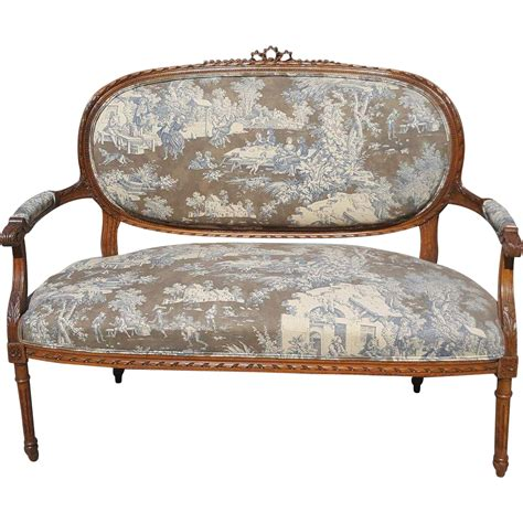 louis xvi settee louis xvi settee or canape late 19th century from
