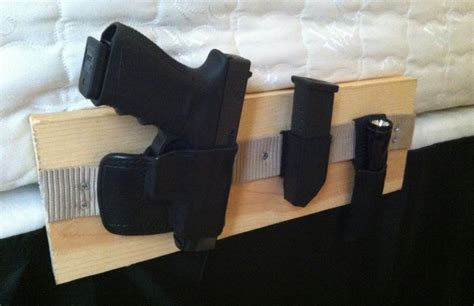 bed holster how to make a bedside gun holster http