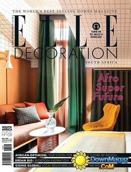 home decor magazines south africa elle decoration sa august september 2016 187 download pdf