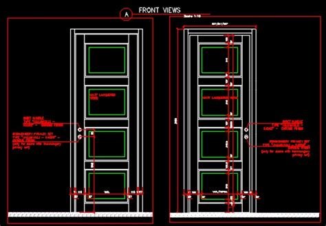Door Section Dwg by Entrance Single Sliding Door Plan Section And Elevation