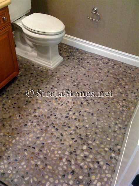 pebble bathroom floor pebble tile floor bathroom room design ideas