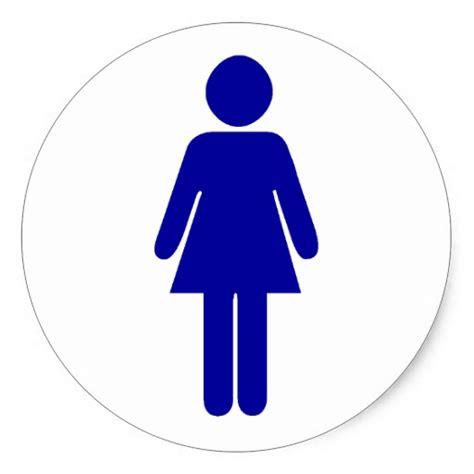 ladies bathroom sign ladies restroom or bathroom sign sticker zazzle
