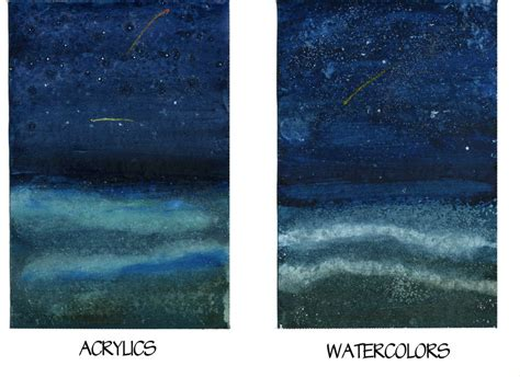 acrylic painting vs watercolor watercolor vs acrylic 6 by raspberrymetamorph on