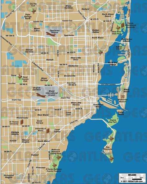 miami map mapas de miami eua mapasblog
