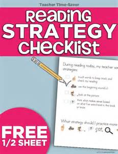 guided reading strategy checklist printable
