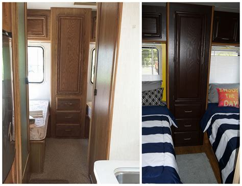 Motorhome Cupboards - before after cer rv buy cabinet stain from home