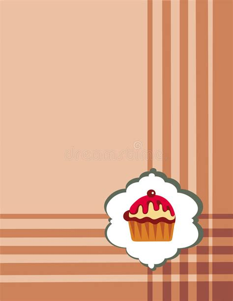 cupcake menu template royalty free stock photography