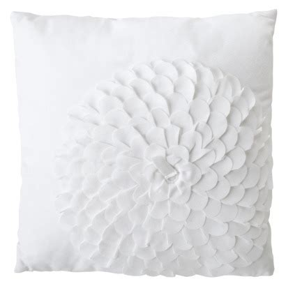 xhilaration 174 flower decorative pillow white home