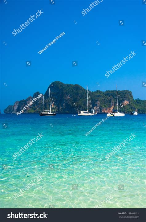 remote vacations remote resort vacation wallpaper stock photo 128442131