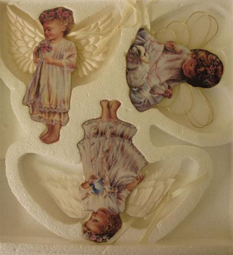 heavens little angels 3 christmas angel cherub ornaments