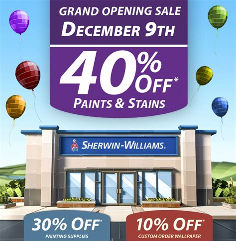 Sherwin Williams Gift Cards For Sale - sherwin williams grand opening sale august 5th