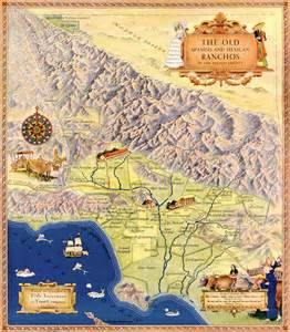 map of the and mexican ranchos of los angeles