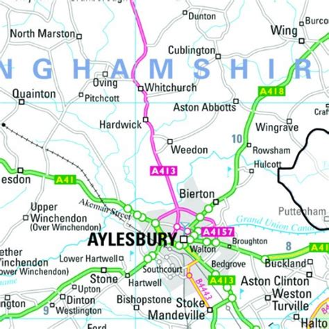 buckinghamshire county map paper laminated  mounted