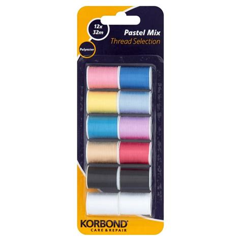 Pers Premium Care M 68 korbond pastel mix thread selection 32m reels 12 per