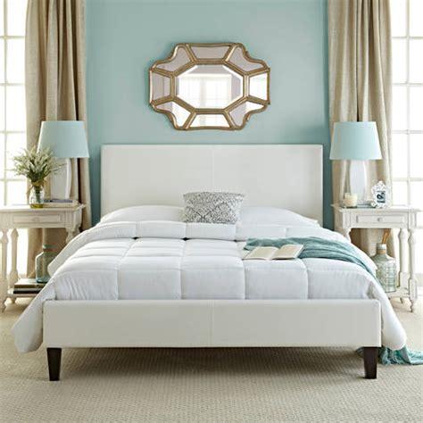 white upholstered platform bed premier zurich twin upholstered platform bed white