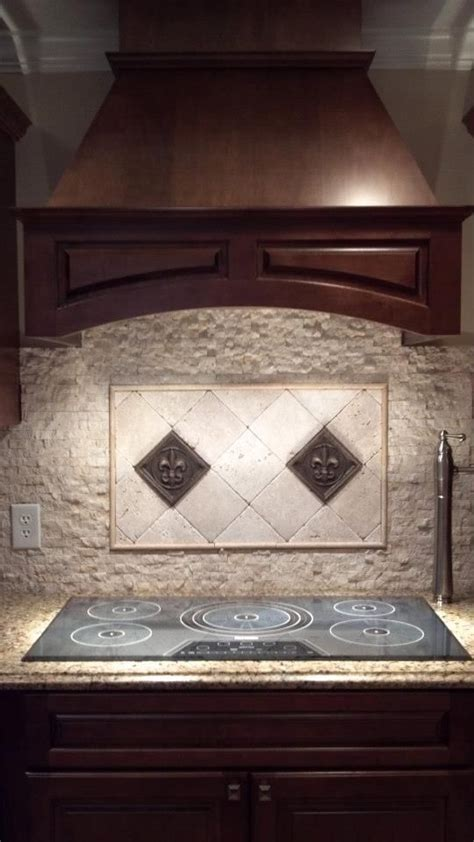 kitchen backsplash fleur de lis backsplash our tile