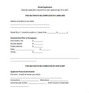 apartment requirements rental application template 10 free word pdf documents