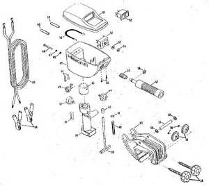 replacement parts diagram parts list for model 65w minn kota parts boat motor parts