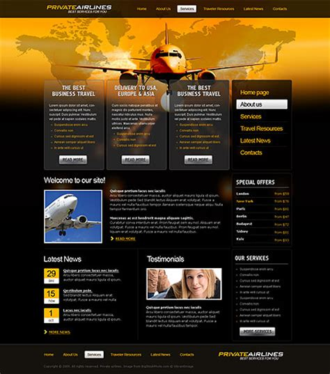 adobe dreamweaver templates airline html template id 300111025