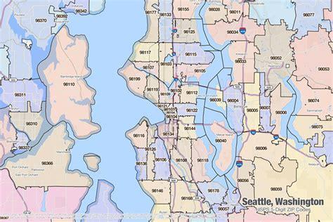 seattle zip code map washington zip code map afputra