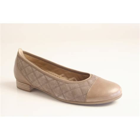 cushioned flat shoes gabor gabor style quot goode quot quilted leather shoe with