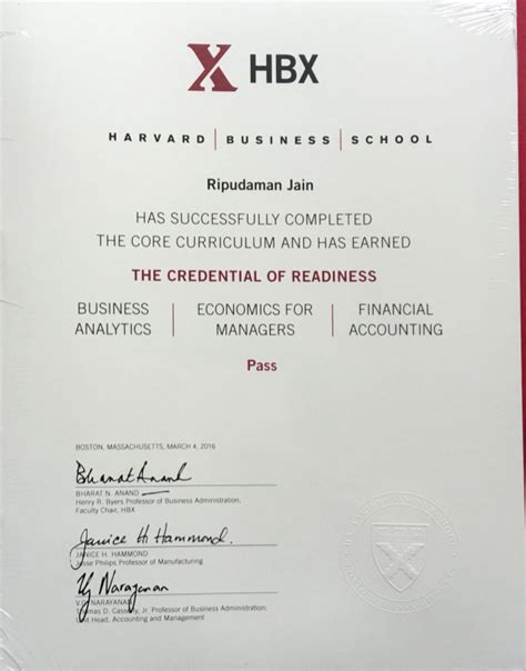Harvard Pre Mba Courses by Hbx