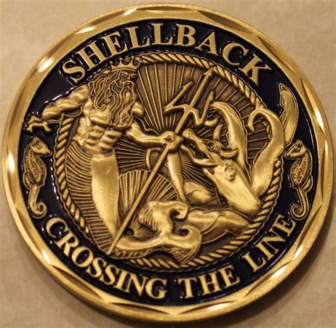 challenge coin navy shellback navy marine corps challenge coin e v2 ebay