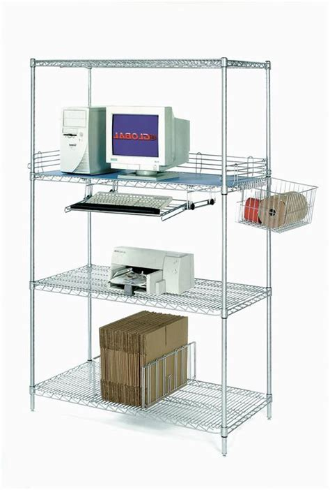 computer racks nexel industries lan wire shelving carts