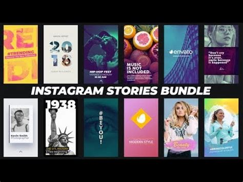 Instagram Stories Bundle After Effects Template Ae Templates Youtube Instagram Story Template After Effects