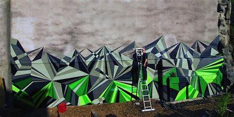 geometric graffiti art brings   beautiful mix
