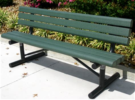park style benches park style recycled plastic bench with backrest park