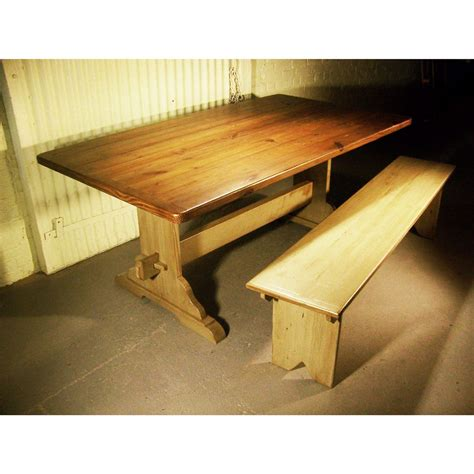 trestle bench barn wood concord trestle table cottage home 174