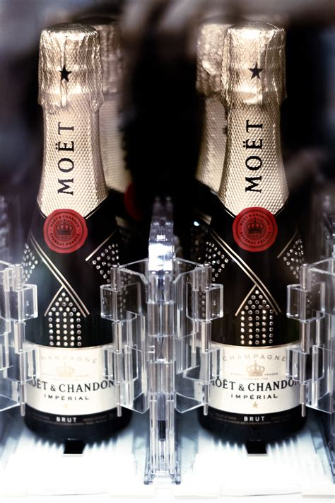 moet chandon chagne vending machine installed at