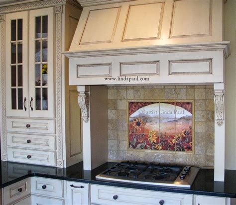 country tile backsplash sunflower kitchen decor tile murals western backsplash