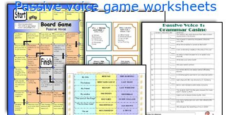 let s teach english passive voice board game english teaching worksheets passive voice game
