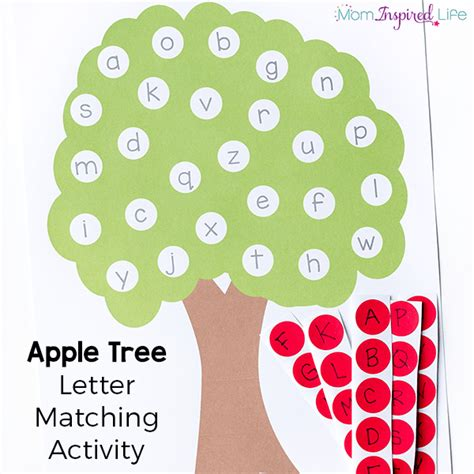 Letter Matching Apple Tree Activity With Printable Tree Letter Template