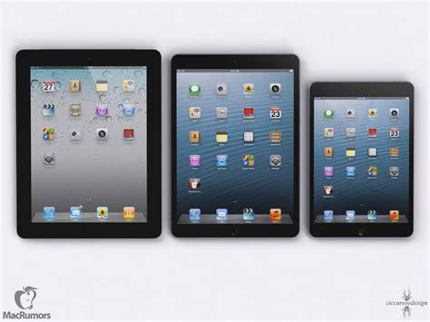 apple ipad size comparison of ipad 4 ipad mini iphone 5 and