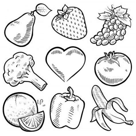 coloring book pages of vegetables fruits and vegetables nine healthy vegetables for