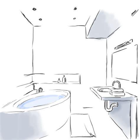 dessin de salle de bain obasinc