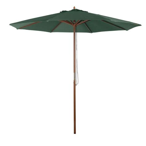 Market Patio Umbrella 9 Ft Market Patio Umbrella In Green Y99153 The Home Depot