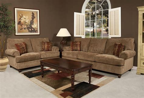 Set Sofa Cafe 16160 sphynx sofa loveseat set in cafe fabric by chelsea