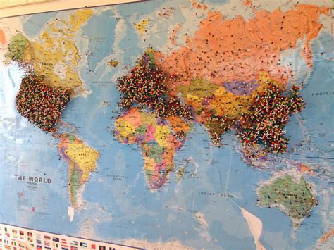travel map pins small town restaurant asks guests to pin where they re