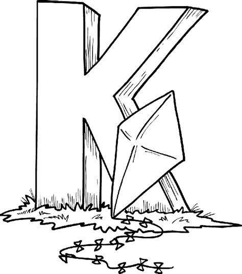 Free Alphabet Coloring Pages K Coloring Page